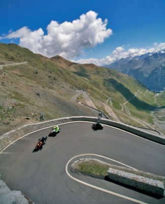 Alpenpass Stilfser Joch (Passo dello Stelvio)