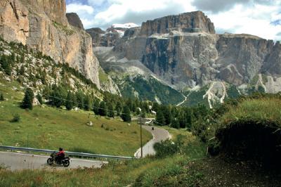 Alpenpass Sella Joch (Passo di Sella)