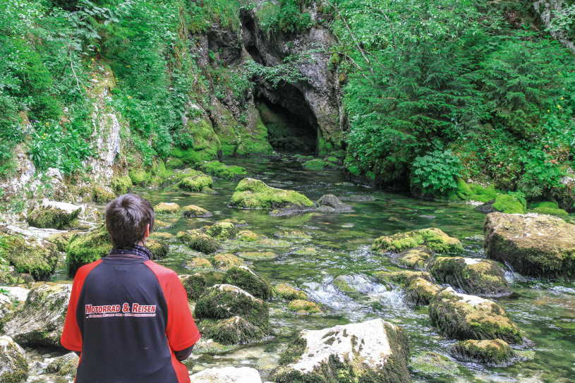 Die Quelle des Doubs.
