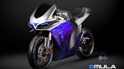 Elektromotorrad simuliert Verbrennungsmotoren - 2electron Emula One