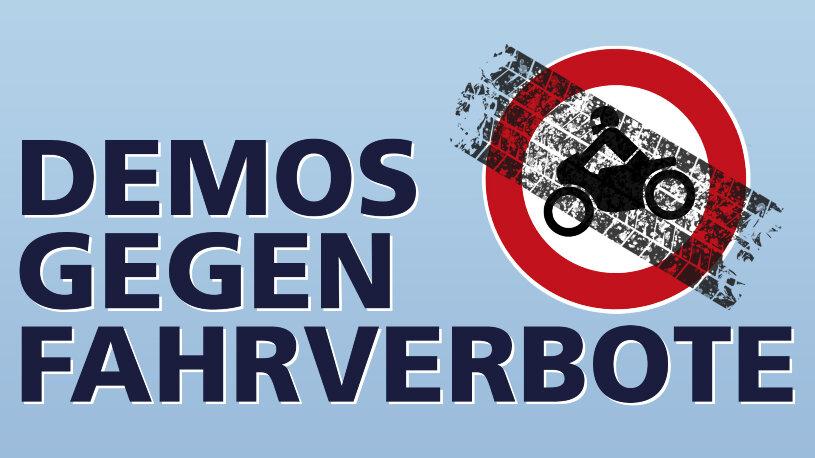 Termine von Motorraddemonstrationen gegen Fahrverbote und Streckensperrungen