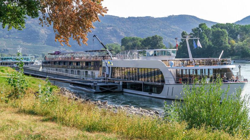 Donau Anlegestelle bei Weißenkirchen