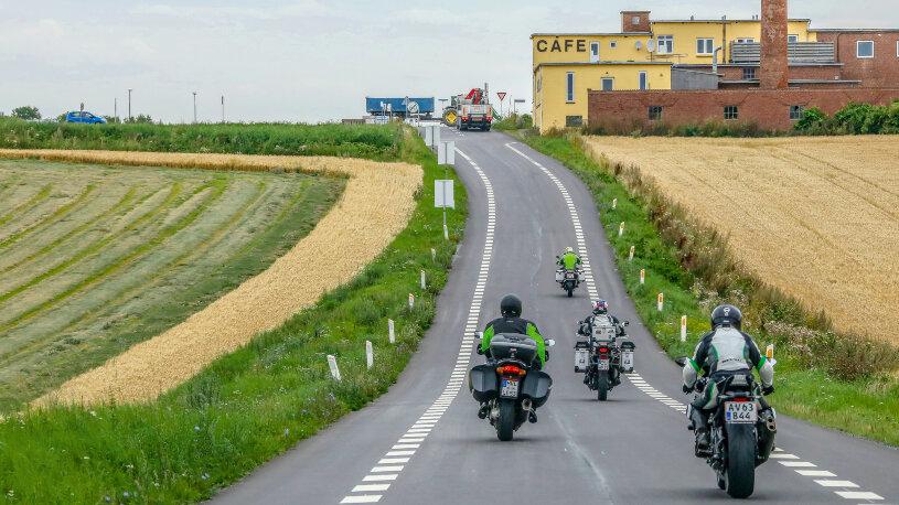 Motorradtourstart von Stralsund nach Malmö