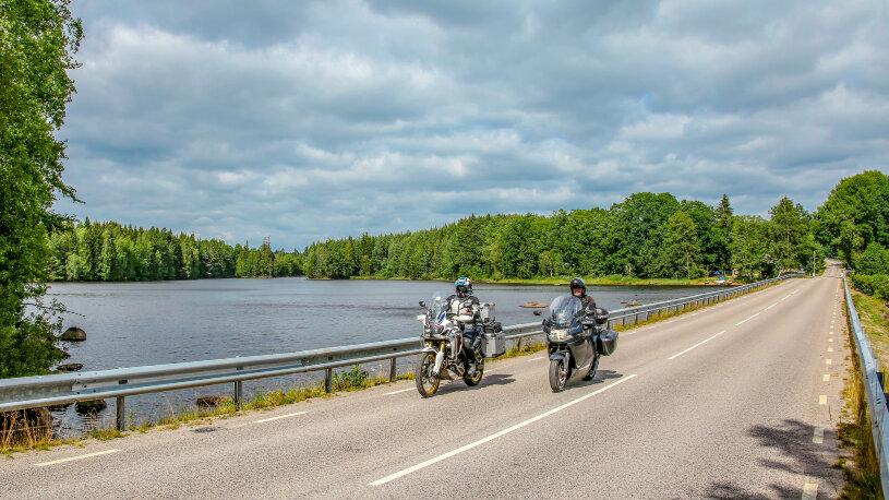 Motorradtour Nordlichtrunde zurück Richtung Stralsund
