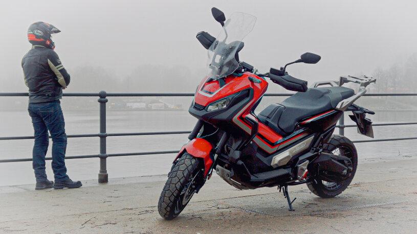 Honda-X-ADV im Wintereinsatz