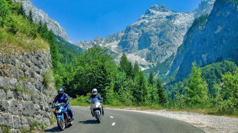 Der 1611 Meter hohe Vršic-Passbietet Traumpanoramen in den Julischen Alpen.