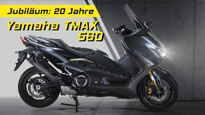 Yamaha TMAX 20th Anniversary – Sondermodell mit Sicht-Carbon