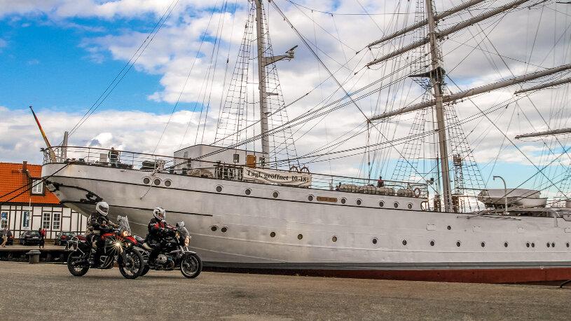 Das ehemalige Segelschulschiff mit dem Namen Gorch Fock