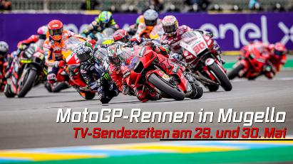 MotoGP-Rennen in Mugello live im TV verfolgen