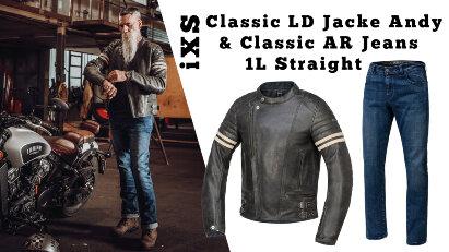 iXS Classic LD Jacke Andy und Classic AR Jeans 1L Straight