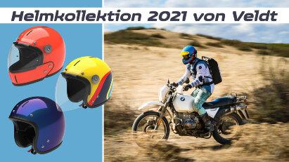 Veldt: Retro-Motorradhelme mit anschraubbarem Kinnteil
