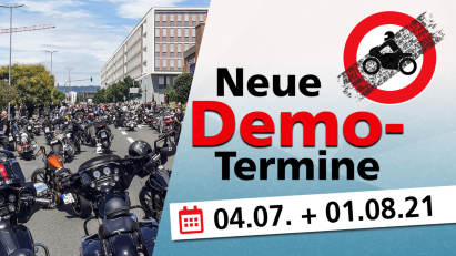 Bundesweite Motorraddemos am 4. Juli und 1. August 2021