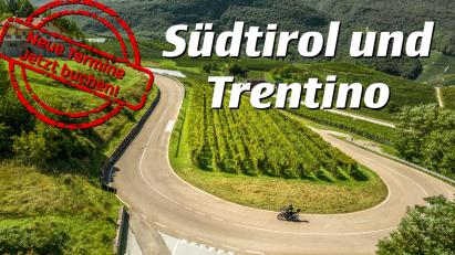 Motorradreise ins Trentino/Südtirol – neue Termine verfügbar!