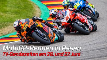 MotoGP-Rennen in Assen: TV-Sendezeiten