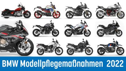 Modellpflege für BMW-Motorräder: Das ändert sich 2022