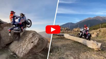 Honda Africa Twin als Trial-Motorrad