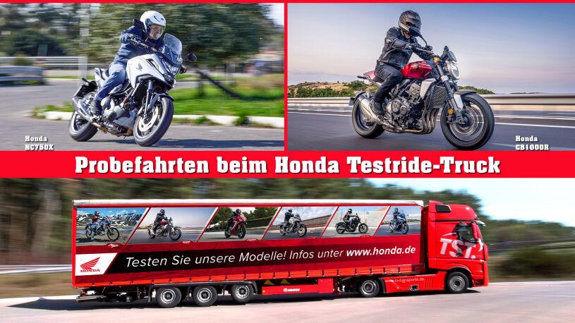 Probefahrten beim Honda Testride-Truck
