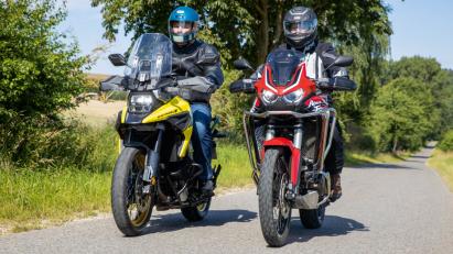 Vergleichstest: Suzuki V-Strom 1050XT vs. Honda CRF1100L Africa Twin