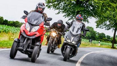 Konzeptvergleich: Roadster, Scooter & Dreirad