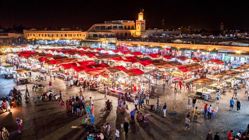 Marokko Motorrad Reise Basar Marrakech