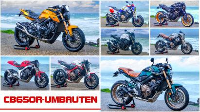 Zehn Custombikes auf Basis der Honda CB650R Neo Sports Café