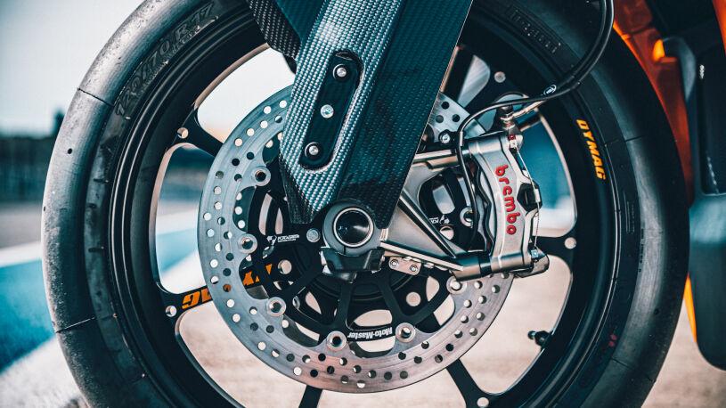 Brembo-Stylema-Bremse der KTM RC 8C