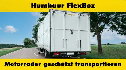 Humbaur FlexBox: Transporter für vier Motorräder