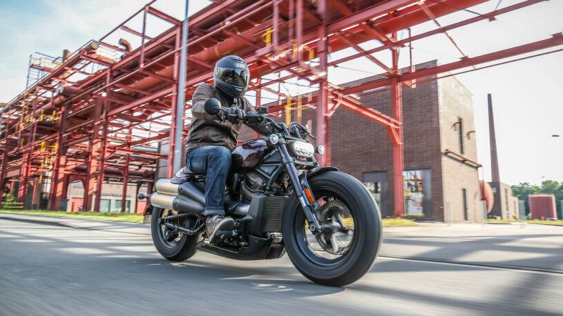 Harley-Davidson Fahrtbild