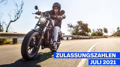 Zulassungszahlen Juli 2021: Naked Bikes und Reiseenduros dominieren
