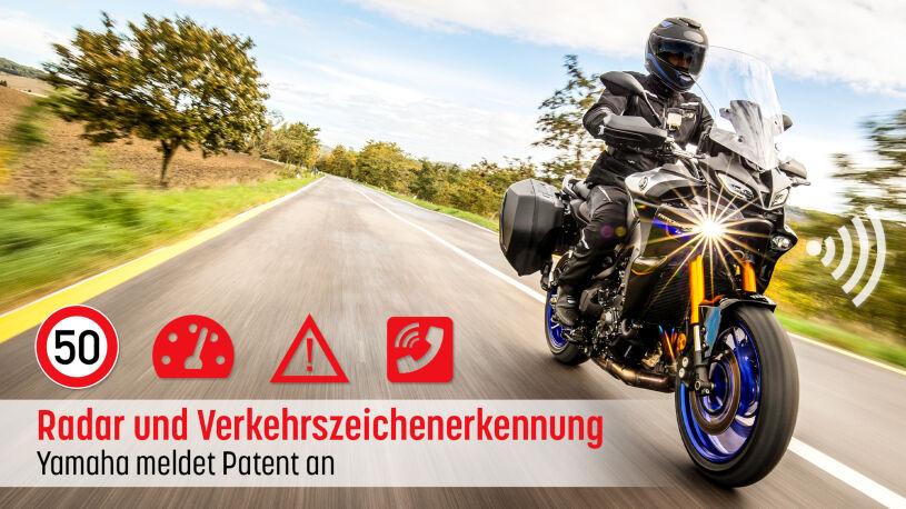 Yamaha Motorräder mit Abstandsradar und Verkehrszeichenerkennung