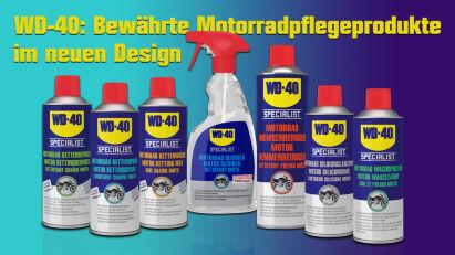 WD-40: Bewährte Motorradpflegeprodukte im neuen Design