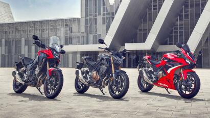 Honda CB500F, CB500X & CBR500R (2022)