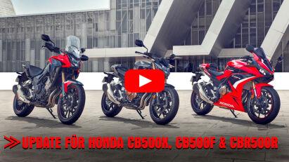 Honda upgradet 2022er Modelle der CB500F, CBR500R und CB500X