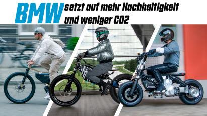 Motorrad oder Fahrrad? Das BMW i Vision AMBY will beides sein