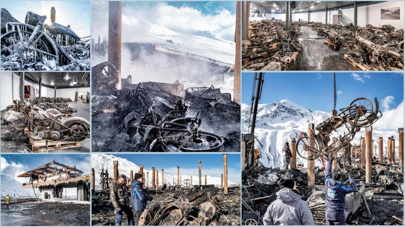 Motorradmuseum Timmelsjoch nach dem Brand