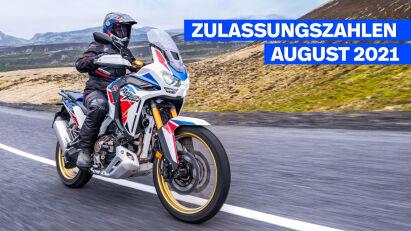 Zulassungszahlen August 2021 – Motorradmarkt bricht ein, BMW zeigt sich unbeeindruckt