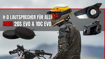 Sena 20S Evo & 10C Evo ab Werk mit H-D Lautsprechern