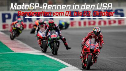 Grand Prix der MotoGP in den USA: Live-Übertragung vom 1. bis 3.10.2021