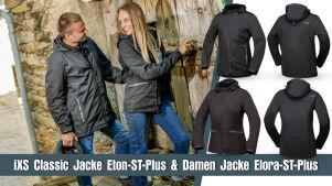 Lifestyle-Look: iXS-Damenjacke Elora-ST-Plus und Herrenjacke Eton-ST-Plus