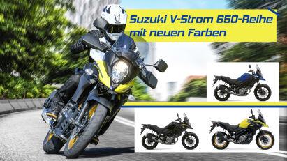 Suzuki V-Strom 650: 2022 im neuen Farbgewand