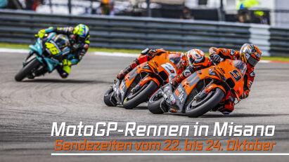Grand Prix der MotoGP in Misano: Live-Übertragung vom 22. bis 24.10.2021