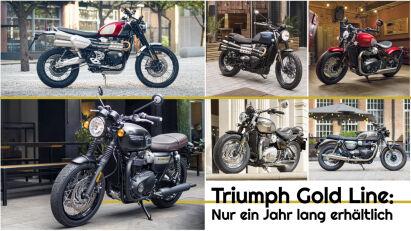 Triumph Gold Line: Nur ein Jahr lang erhältlich