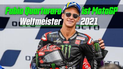Fabio Quartararo ist MotoGP Weltmeister 2021