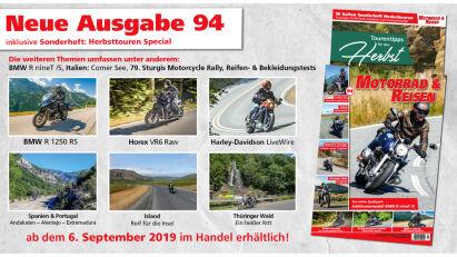 Motorrad & Reisen Ausgabe 94 mit Herbsttouren Special