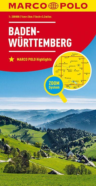 MARCO POLO Karte Deutschland Blatt 11 Baden-Württemberg 1:200 000