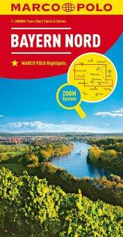 MARCO POLO Karte Deutschland Blatt 12 Bayern Nord 1:200 000