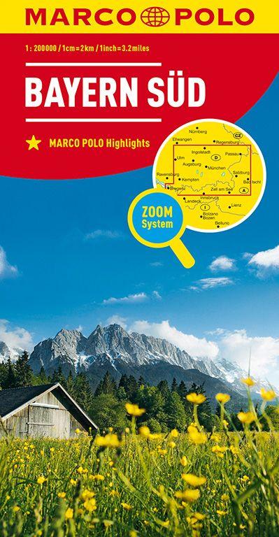MARCO POLO Karte Deutschland Blatt 13 Bayern Süd 1:200 000