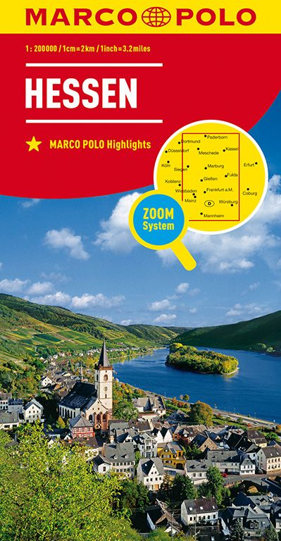 MARCO POLO Karte Deutschland Blatt 6 Hessen 1:200 000