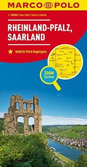 MARCO POLO Karte Deutschland Blatt 10 Rheinland-Pfalz, Saarland 1:200 000