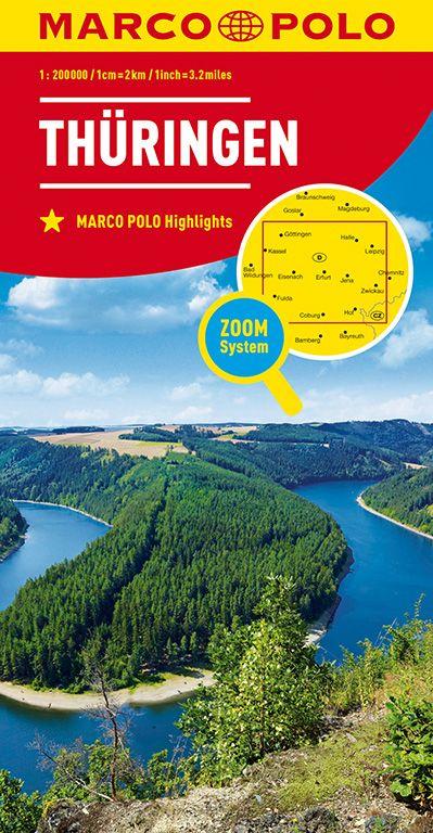 MARCO POLO Karte Deutschland Blatt 7 Thüringen 1:200 000
